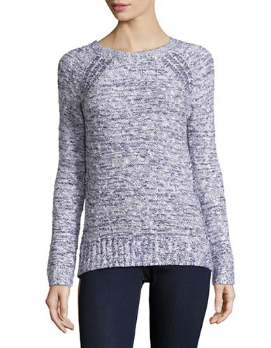 Buffalo David Bitton Mira Knit Sweater-BLUE-Large