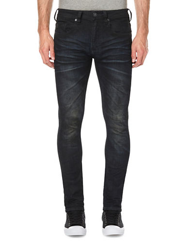 Buffalo David Bitton Whiskered Skinny Jeans-BLUE-36X32