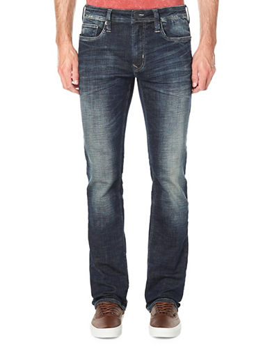 Buffalo David Bitton Relaxed-Fit Whiskered Jeans-BLUE-30X32