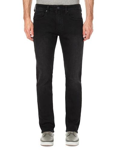 Buffalo David Bitton Faded Skinny Jeans-BLACK-30X32