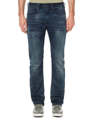 Buffalo David Bitton Washed Skinny Jeans-BLUE-33X32