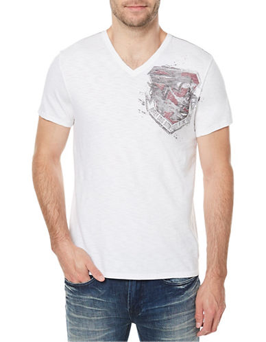 Buffalo David Bitton Graphic Cotton Tee-WHITE-Small