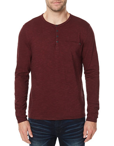 Buffalo David Bitton Katain Henley Cotton Sweater-RED-Large
