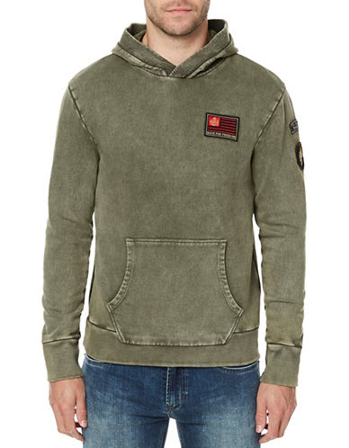 Buffalo David Bitton French Terry Hoodie-GREY-Large