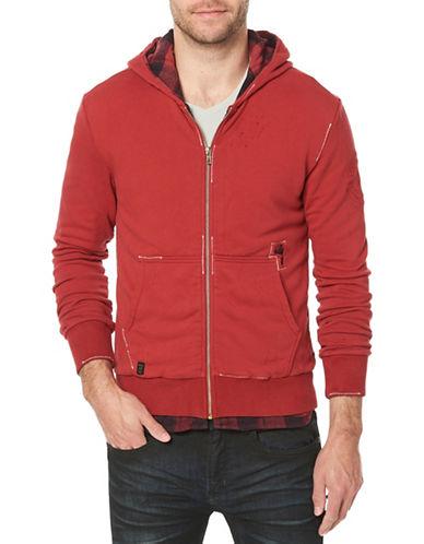 Buffalo David Bitton Fifull Zip-Up Cotton Hoodie-RED-X-Large