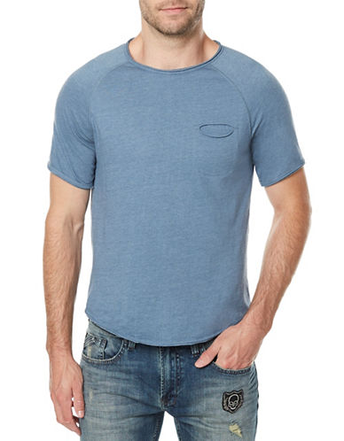 Buffalo David Bitton Kotail Heathered T-Shirt-BLUE-Medium