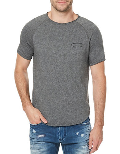 Buffalo David Bitton Kotail Heathered T-Shirt-GREY-XX-Large