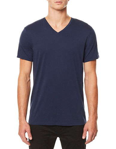 Buffalo David Bitton Short Sleeve Cotton Tee-BLUE-X-Large