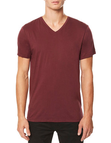 Buffalo David Bitton Short Sleeve Cotton Tee-RED-Large