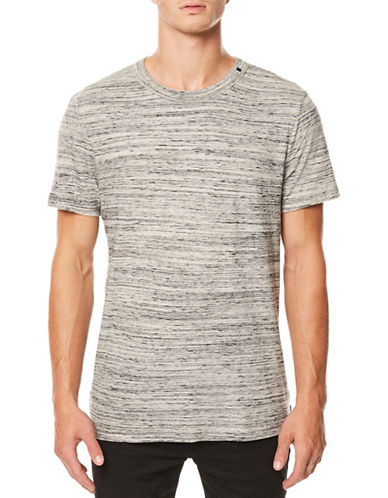 Buffalo David Bitton Short Sleeve Cotton Tee-GREY-Large