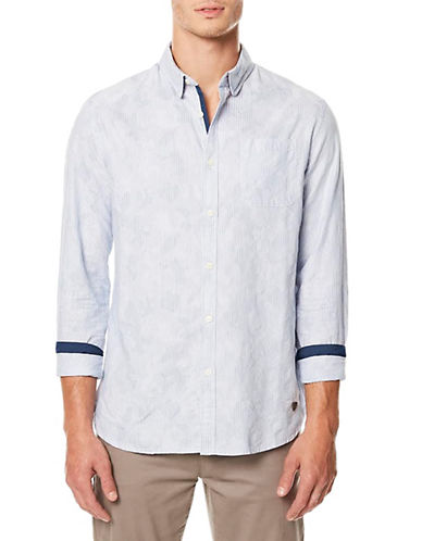 Buffalo David Bitton Classic Cotton Sportshirt-BLUE-Large