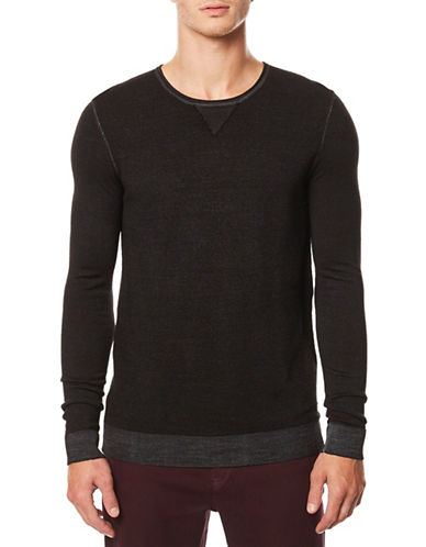 Buffalo David Bitton Long Sleeve Wool Top-BLACK-Large