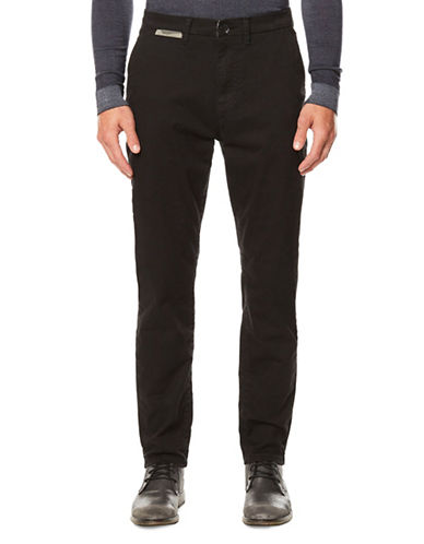Buffalo David Bitton Slim-Fit Twill Trousers-BLACK-36