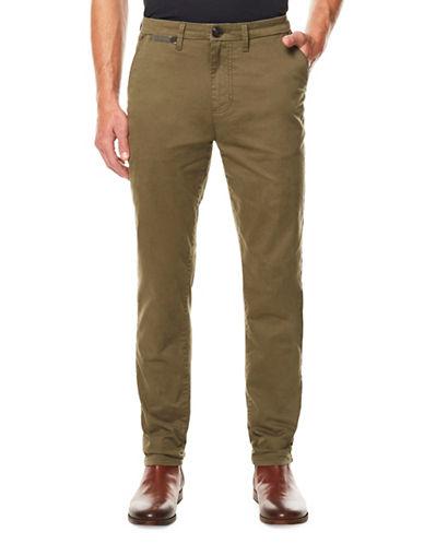 Buffalo David Bitton Slim-Fit Twill Trousers-GREEN-36