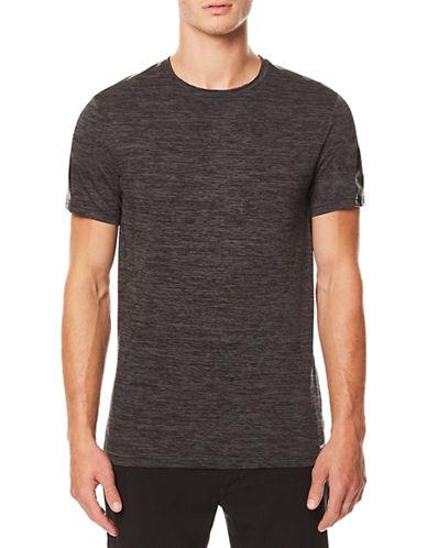 Buffalo David Bitton Short Sleeve Knit Tee-BLACK-Large