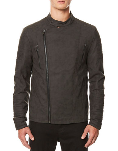 Buffalo David Bitton Suede Biker Jacket-BLACK-Large
