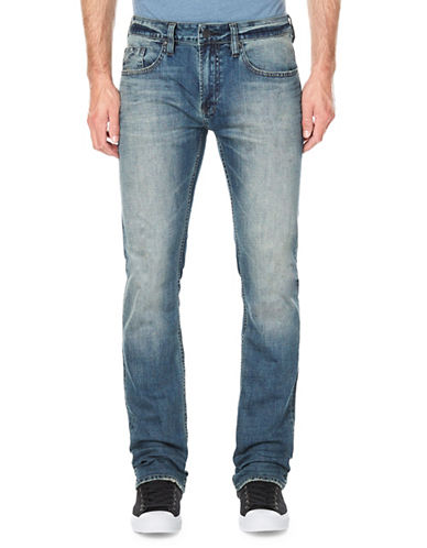 Buffalo David Bitton Straight-Fit Faded Jeans-BLUE-30X32