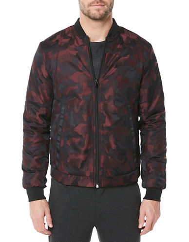 Buffalo David Bitton Camo Bomber Jacket-RED-X-Large