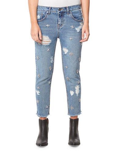 Buffalo David Bitton Boyfriend Straight-Leg Ankle Jeans-VINTAGE BLUE-30