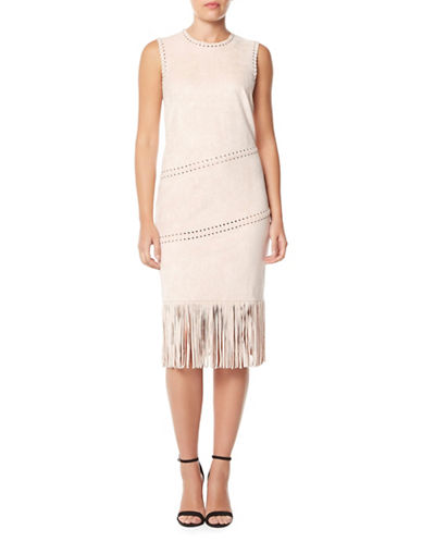 Buffalo David Bitton Fringed Sheath Dress-DUNE-X-Large