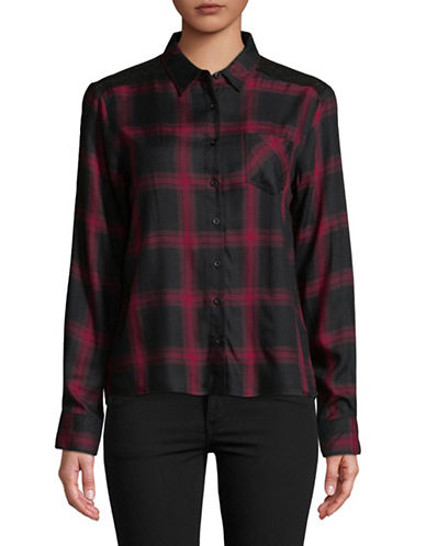 Buffalo David Bitton Plaid Button-Down Shirt-RED-Small