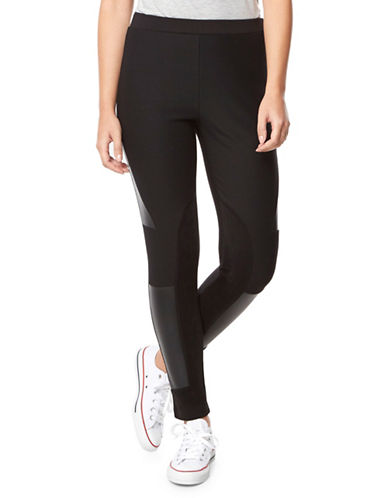 Buffalo David Bitton Moto Leggings-BLACK-Medium