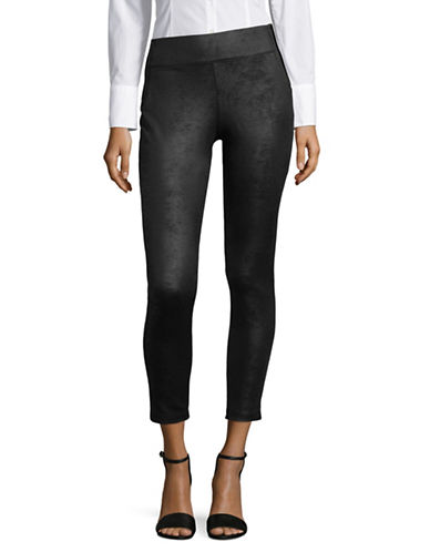 Buffalo David Bitton Classic Zip Leggings-JET BLACK-X-Small