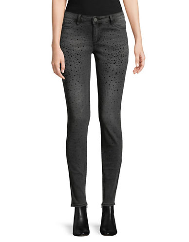 Buffalo David Bitton Faith Embellished Skinny Jeans-GREY-30