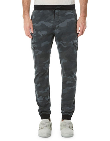 Buffalo David Bitton Zoltan-X Dropped-Crotch Jogger Pants-INDIGO BLUE-Large