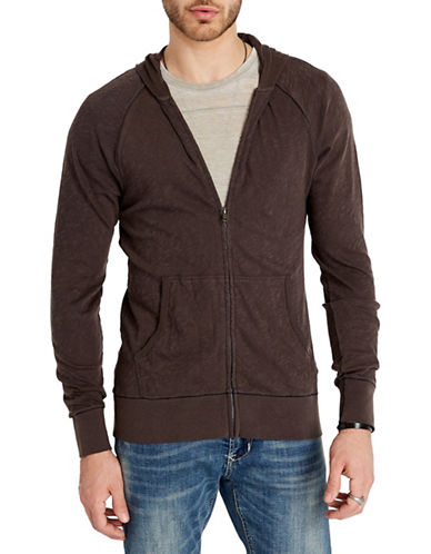 Buffalo David Bitton Kaslood Cotton Hoodie-CHARCOAL-X-Large 90002925_CHARCOAL_X-Large