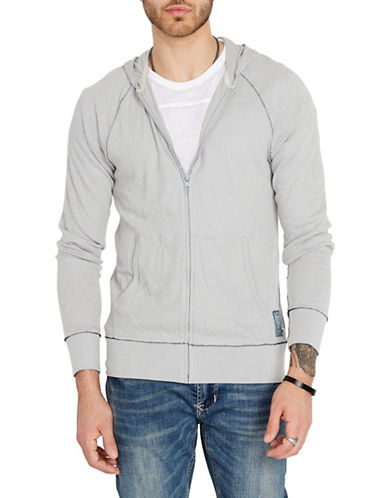 Buffalo David Bitton Kaslood Cotton Hoodie-GREY-X-Large 90002929_GREY_X-Large