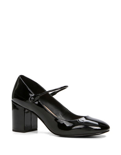 Aldo Elizabeth Low Heel Mary Janes-BLACK PATENT-8.5