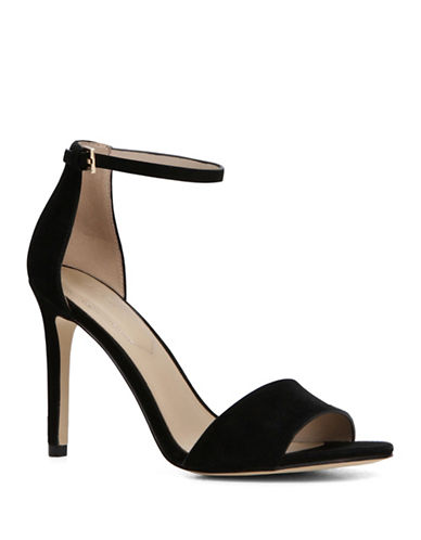 Aldo Fiolla Ankle Strap High Heel Sandals-BLACK SUEDE-9