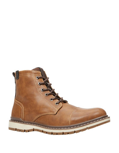 Call It Spring Doedda Lace-Up Ankle Boots-BROWN-8