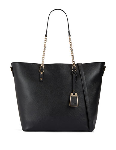 Aldo Land Chain Detail Tote-BLACK-One Size 88837157_BLACK_One Size