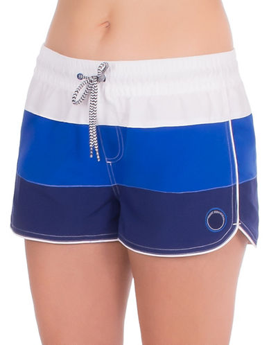 Point Zero Colourblock Woven Swim Shorts-BLUE-X-Large 89003285_BLUE_X-Large