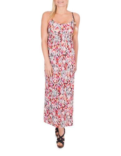 California Moonrise Abstract Print Maxi Dress-MULTICOLORED-Small