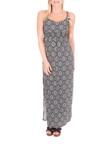 California Moonrise Diamond Print Maxi Dress-MULTI-X-Small