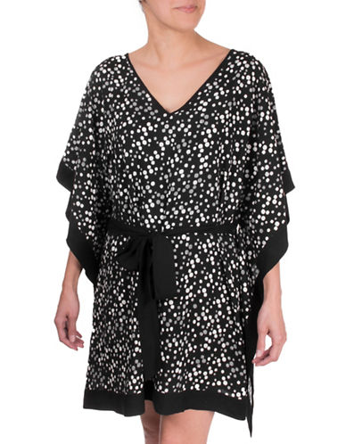 Point Zero Polka Dot Tunic-BLACK-Small