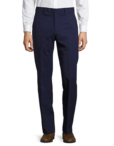 Chaps Performance Series Slim-Fit Suit Pants-BLUE-38X32