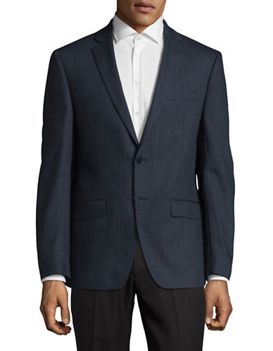 Calvin Klein X-Fit Slim Wool Sports Jacket-BLUE-40 Tall