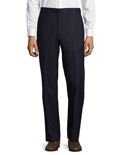 Lauren Ralph Lauren Wool Straight-Leg Dress Pants-NAVY-38X34
