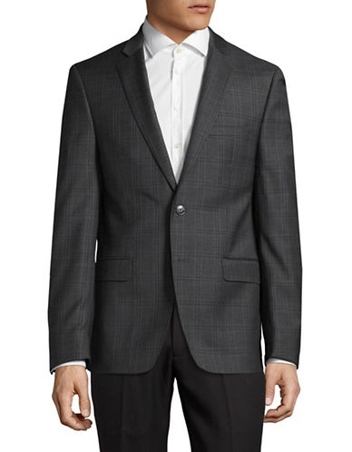 Calvin Klein Wool Slim Fit Sports Jacket-GREY-42 Tall