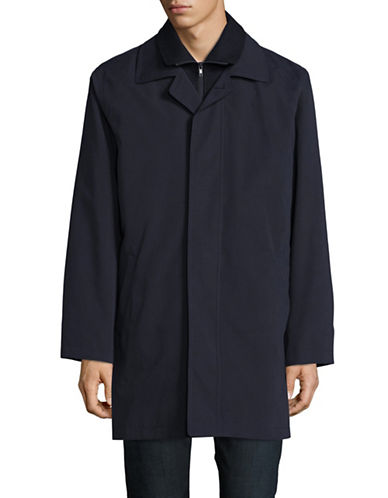 Lauren Ralph Lauren 3-in-1 Trench Coat-NAVY-40 Regular