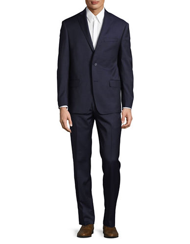 Michael Kors Shadow Check Wool Suit-BLUE-46 Tall