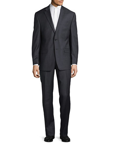 Lauren Ralph Lauren Ultraflex Wool Suit-GREY-46 Regular