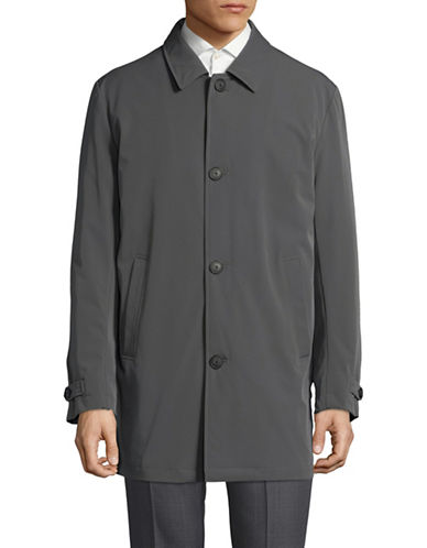 Calvin Klein Notch Heathered Topcoat-GREY-42 Tall