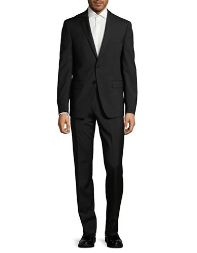 Calvin Klein X-Fit Slim Wool Suit-BLACK-42 Regular