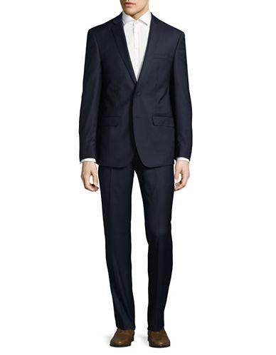 Calvin Klein X-Fit Slim Wool Suit-BLUE-42 Tall