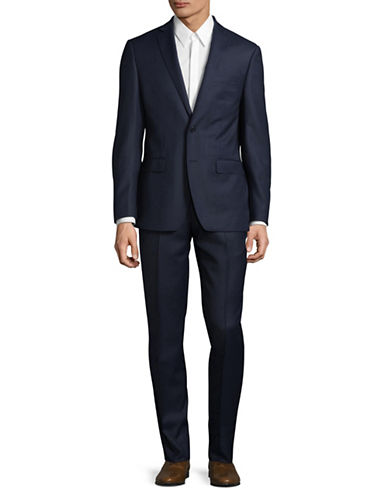 Calvin Klein X-Fit Slim Wool Suit-BLUE-46 Tall